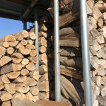 薪棚への積み込み方法について