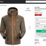 mountainsteals.comにてアークテリクス Squamish Hoodyが43%オフ!