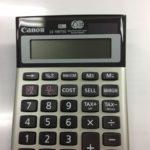 Canon(キャノン)電卓の逆輸入
