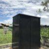 イケてない倉庫を真っ黒に塗装しました