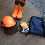 【薪作り】ハスクバーナ製品(チャップス・ヘルメット・グローブ・ブーツ)の輸入