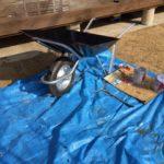 浅香工業製一輪車を塗装しました