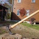 【薪作り】冬になるとグラグラになるグレンスフォッシュ斧柄を水に浸けて復活させる