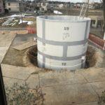 耐震性貯水槽工事始まる
