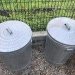輸入した屋外用ゴミ箱を移動した件