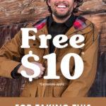 【個人輸入】Moosejaw.comでアンケートに答えると10ドルくれるよ!