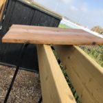 余材を使ってファイヤーサードのログラックに屋根取り付け開始