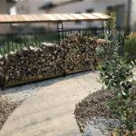ログラックスライドの木製屋根がもうすぐ完成