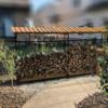 ファイヤーサイドログラックスライドの木製屋根が完成する