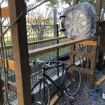タイヤラックと自転車置き場をDIY
