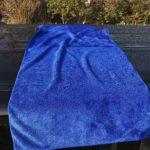 ミニバン屋根洗車は大判タオルがあると便利