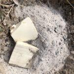 【実験】薪ストーブ灰と豆腐と納豆を庭に埋めました