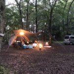 初めてのキャンプ泊でテントが水没