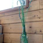 庭で採れたラベンダーで一輪挿しロックバージョンを作った件