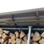 【強風対策】薪棚を補強した件